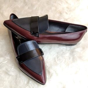 Ivanka Trump Pointed Leather Loafer Flats - Size 7